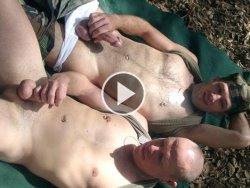 military buddies jerking